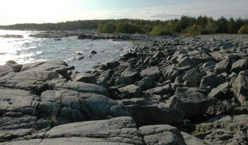 The coast of Härnön, where I do a lot of my work